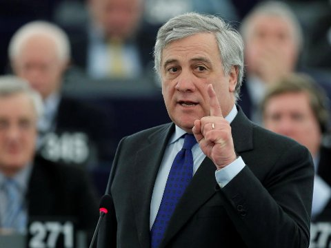 VALGT: Antonio Tajani er valgt til ny president i EU-parlamentet