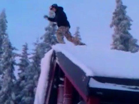 OJ DA: Videoen av mannen som faller ned fra hyttetaket sprer seg på nettet. Men budskapet lenger ut i filmen er enda viktigere.