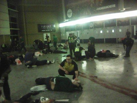Det ble et blodbad i Manchester mandag kveld.