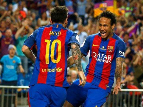 FOR MYE KLASSE: Samspillet mellom Lionel Messi og Neymar var avgjørende for at Barcelona vant den spanske cupfinalen i Madrid lørdag kveld.