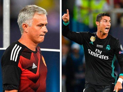 SLENGBEMERKNING: Cristiano Ronaldo spilte ikke mer enn et kvarter mot Manchester United, men rakk å irritere gamlesjefen José Mourinho.