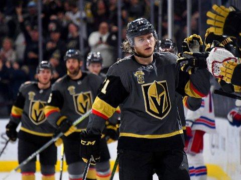 STORSCORER: William Karlsson avgjorde oppgjøret mot New York Rangers og Mats Zuccarello. Vegas Golden Knights' utrolige debutsesong i NHL fortsetter.