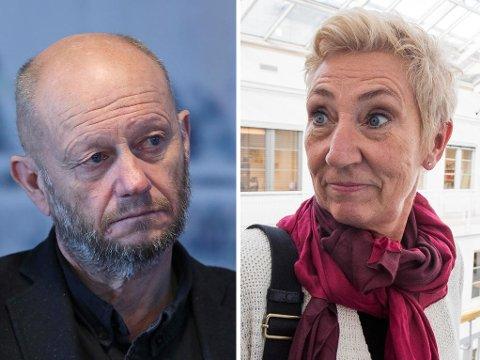 PENSJONSSTRID: Stein Lier-Hansen, administrerende direktør i Norsk Industri, mener AFP-ordningen burde vært avviklet. 1. nestleder i LO, Peggy Hessen Følsvik, er helt sikker at pensjon blir et tema under årets lønnsoppgjør.
