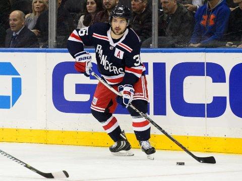 RYKTES BORT: Mats Zuccarello kan gå mot slutten av tida i New York Rangers.