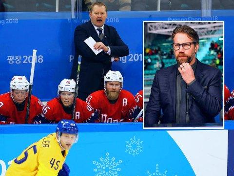 TVILER: Norges har minst vinnersjanser også i OL-duellen mot Tyskland, ifølge Sveriges doble olympiske mester og hockeylegende Peter Forsberg (innfelt).