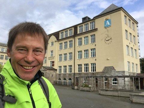 Allanengen skole i Kristiansund. Her ble prototypen laget