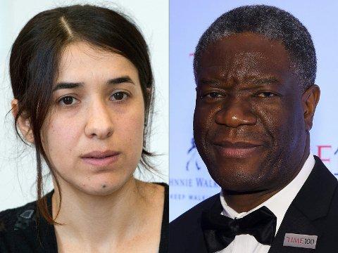 Irakiske Nadia Murad og den kongolesiske legen Denis Mukwege tildeles Nobels fredspris for 2018.