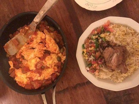 Å bytte omelett (til venstre) mot kylling og ris (til høyre) kan føre til store ting.