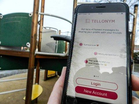 SKJULER AVSENDER: Halden kommune advarer skolene mot bruk av appen Tellonym. Her er navn og kontaktinfo fra avsender skjult.