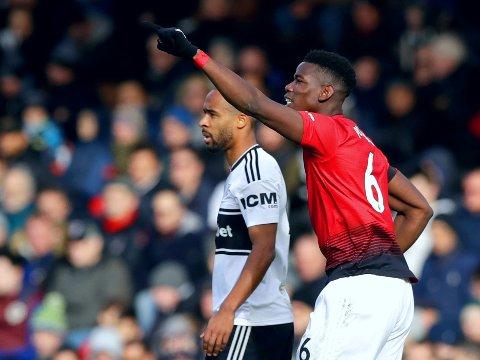I SIGET: Paul Pogba har 13 mål eller assist for Manchester United siden Ole Gunnar Solskjær overtok som manager etter José Mourinho. Målpoeng ble det også mot Fulham, klubben med ligaens svakeste forsvar.