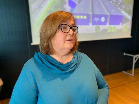 TYNGRE: Administrerende direktør i IKEA Retail Norge, Clare Rodgers, fortalte tirsdag at IKEA skrinlegger planene om utbygging av nye varehus i Norge.