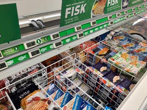 HEDERLIG UNNTAK: Vareutvalget av frossen fisk kommer bra ut i undersøkelsen. Men dette er en liten varegruppe...