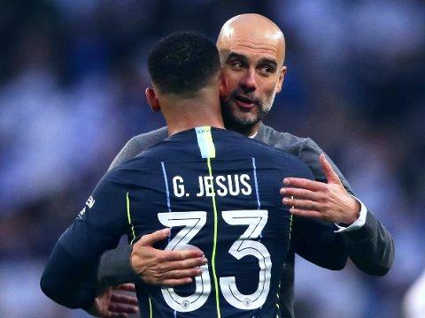 FLERE ANGREPSVÅPEN: Manchester City-manager Pep Guardiola har gode valgmuligheter på spissplass.