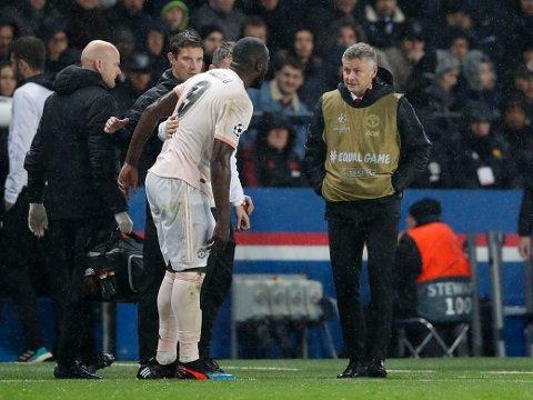 TRØBLET MED SAMARBEIDET: Ole Gunnar Solskjær og Romelu Lukaku. Her avbildet under Champions League-oppgjøret borte mot Paris Saint-Germain i mars.