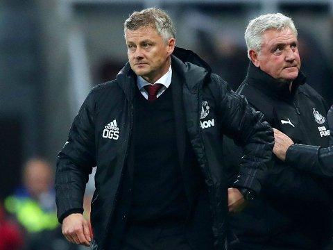 TUNGE DAGER: Søndagens bortekamp mot Newcastle og Steve Brude endte med enda et nederlag for Manchester United-manager Ole Gunnar Solskjær.