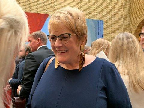 VIL FORTSETTE: Trine Skei Grande vil fortsette som Venstre-leder, men flere av partilagene i Venstre vil vrake henne.
