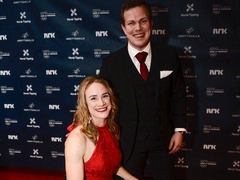 SLUTT: Birgit Skarstein og Martin Sletten har gjort det slutt. Her sammen på vei inn på rød løper til Idrettsgallaen 2019 i Stavanger.
