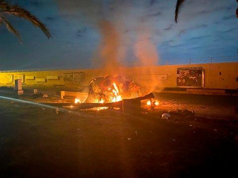 RAKETTANGREP TILBAKE: Situasjonen i regionen er svært spent etter at USA natt til fredag likviderte den iranske toppgeneralen Qasem Soleimani i et droneangrep.