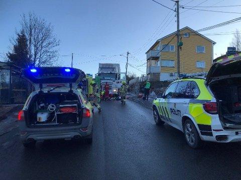 ALVORLIG: Ulykken betegnes av politiet som alvorlig.