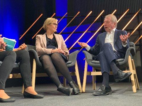 FYRTE LØS: Milliardær og investor Jens Ulltveit-Moe fortalte om sin egen klimaskepsis på 1990-tallet på Trøndelagsmøtet i Stjørdal torsdag.