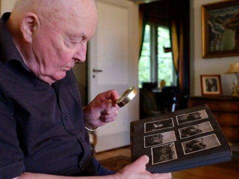 VEKKER MINNER: Rolf Nicolay Skarning mener det er viktig å huske ofrene for Holocaust og deres liv, selv om det ble kort. Selv har han aldri klart å slippe tanken på de to vennene fra barndommens gate, Fanny og Charles Ganz.