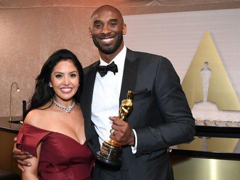 DØDE: Kobe Bryant, her med konen Vanessa Laine Bryant.