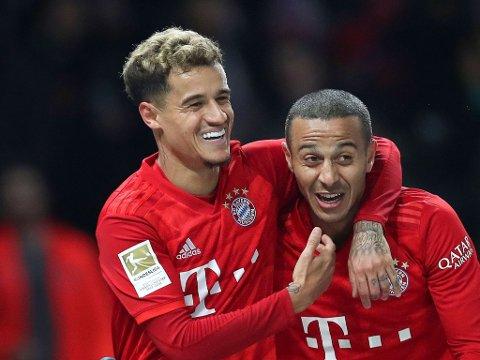 SELGES? Både Philippe Coutinho (til venstre) og Thiago Alcântara har funnet veien til Bayern München fra Barcelona. Førstnevnte kan ende opp et helt annet sted neste sesong.