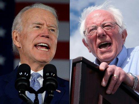 Moderate demokrater slutter ring om Joe Biden for å hindre at den mer radikale Bernie Sanders stikker av med et stort flertall av delegatene på supertirsdag.