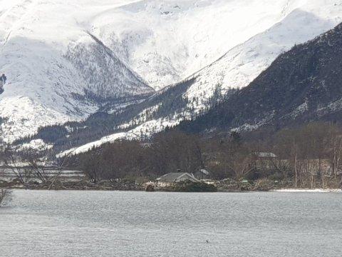 Onsdag formiddag gikk det et ras på Jonsrud i Mosjøen.