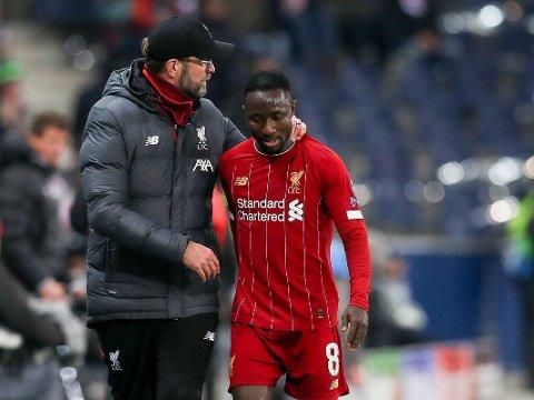 AVSLUTTER DE SAMARBEIDET? Naby Keïta (til høyre) har vært et av Liverpool-manager Jürgen Klopps spillerkjøp som ikke har slått helt til på Anfield.