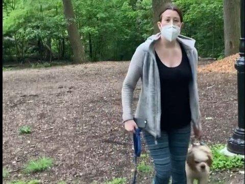 SIKTET: Videoen av kvinnen som raser mot en mann i Central Park og ringer politiet og anmelder ham for trusler har gått viralt i USA. Nå er kvinnen siktet for falsk forklaring.