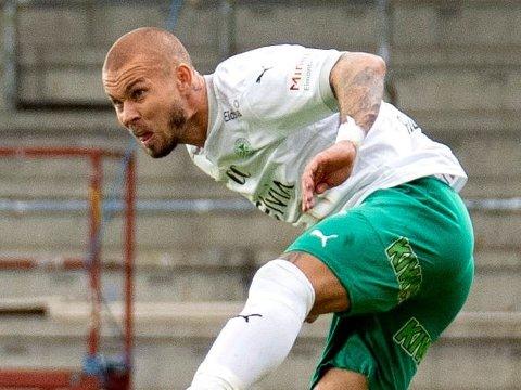 SLITER: Profilen Marcus Pedersen scoret et mål, men det holdt ikke til seier denne gangen heller for HamKam hjemme mot Øygarden.