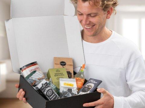 En gaveeske full av de mest luksuriøse snacksproduktene du kan tenke deg - hvem ville ikke blitt glad for det?