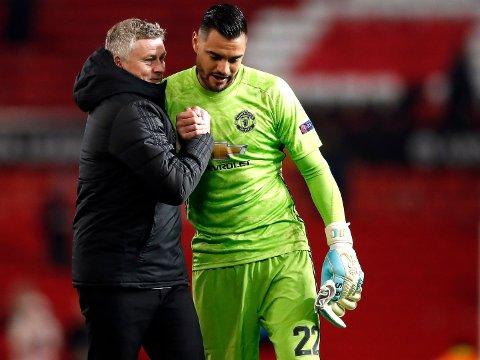 OVER OG UT? Ting tyder på at keeper Sergio Romero ikke lenger har håp om spilletid i Ole Gunnar Solskjærs Manchester United.