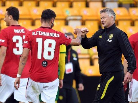 KLART FOR LØNNSHOPP? Ole Gunnar Solskjær og Manchester United er utvilsomt fornøyd med Bruno Fernandes. Det rapporteres om flere andre storklubber som vil prøve å lokke til seg portugiseren.
