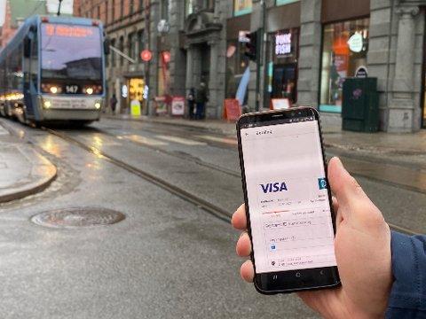 BEKREFTELSE: Du må bekrefte hvert billettkjøp med BankID når du skal reise kollektivt. Har du Vipps er imidlertid det et enklere alternativ for lave beløp.