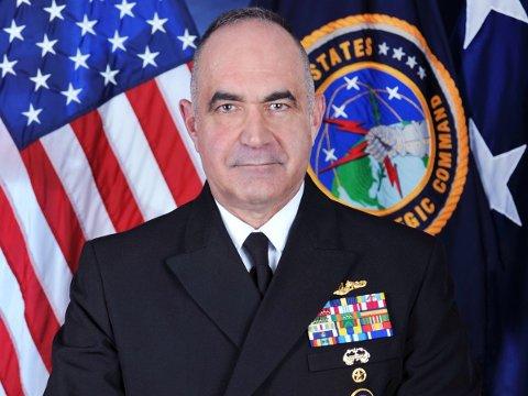 Den amerikanske admiralen Charles Richard leder US Strategic Command, og har dermed ansvar for USAs atomavskrekking.