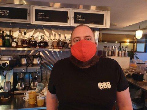 OPPGITT: Ben Mottram driver den amerikanske dineren BFF Oslo på Frogner. Han er ikke fornøyd med hvordan Foodora opererer.