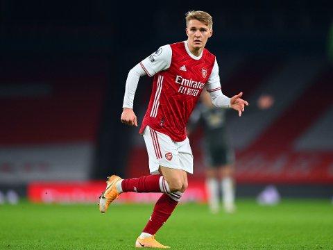 FIKK TILLITEN: Martin Ødegaard var med i Arsenals startoppstilling hjemme mot Leeds.