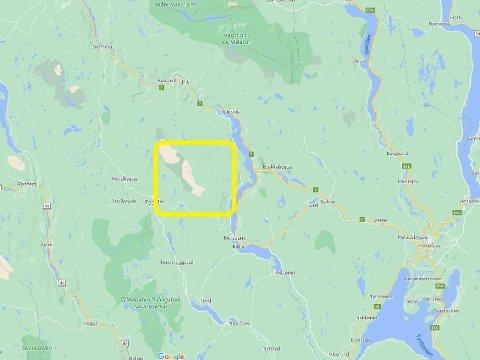 SAVNET ETTER SKITUR: Savnede startet på ski fra Tempelseter og skulle til Høgevarde. Han skulle tilbake til Tempelseter.