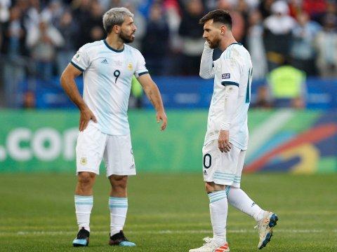NYE VEIER? Lionel Messi (til høyre) og Sergio Agüero. Her avbildet under bronsefinalen i Copa América i 2019.