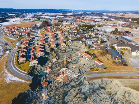 Skredet gikk 30. desember på Ask i Gjerdrum kommune. Ti personer omkom.