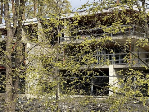 VILLA: Dette villaprosjektet på Oslos vestkant er bakgrunnen for den langvarige konflikten mellom siktede og den drepte kvinnen.