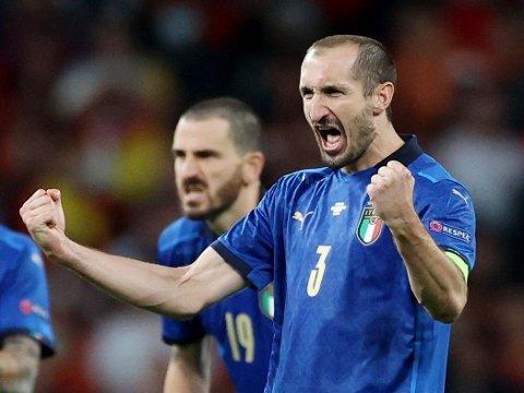 SPÅMANN? Giorgio Chiellini og Italia snek seg videre til en, for ham, ventet EM-finale mot England. Nå vil italienerne gå fryktløst til verks når EM-tittelen avgjøres på Wembley.
