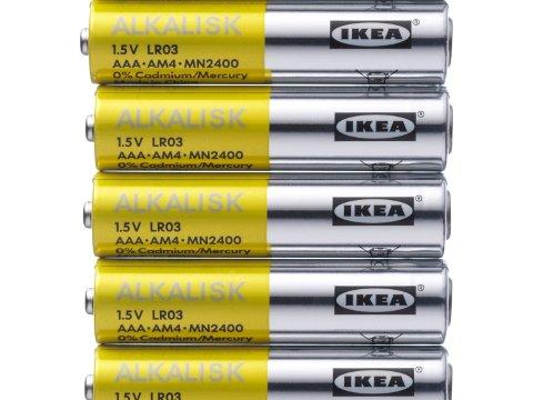 FORSVINNER: Ikke-oppladbare batterier fases ut.