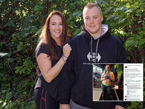 SAMBOERPARET Camilla Lorentzen og Andreas Stokkeland jobber begge som personlige trenere.