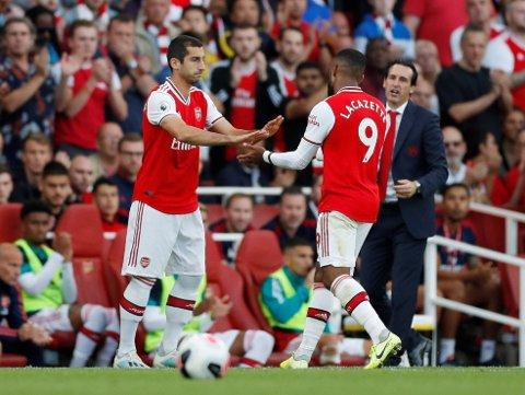 SISTE INNHOPP: Henrikh Mkhitaryan kom inn mot Tottenham søndag. Det ble trolig hans siste kamp som Arsenal-spiller.