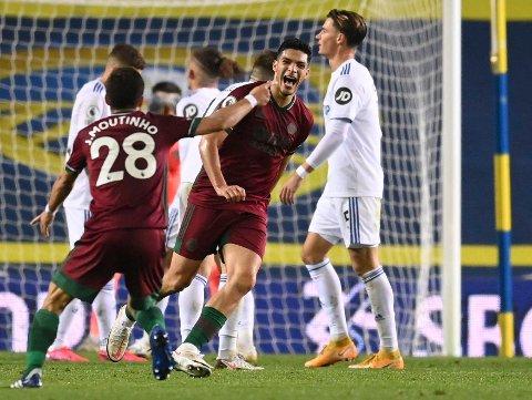 MATCHVINNER: Raul JImenez scoret vinnermålet for Wolverhampton.