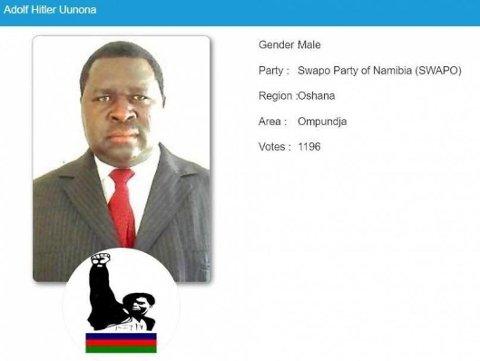 VANT: Den namibiske politikeren Adolf Hitler Uunona tok en knusende valgseier i et lokalvalg i forrige uke.