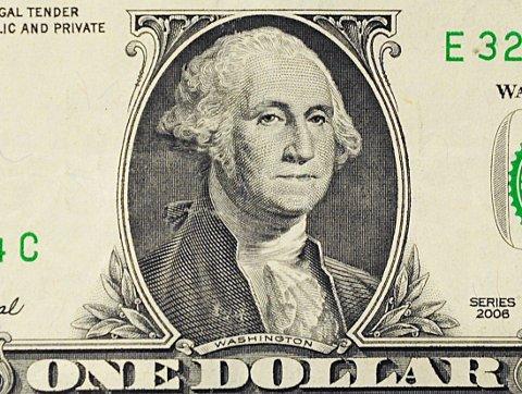 Amerikanske dollar preges av tidligere presidenter. På seddelen med lavest pålydende verdi, 1 dollar, er det bilde av George Washington. Ironisk nok en av presidentene med størst formue.